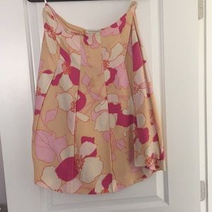 Banana republic floral skirt size 6